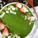 green smoothie bowl with avocado