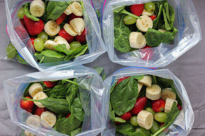 Strawberry Green Smoothie Packs