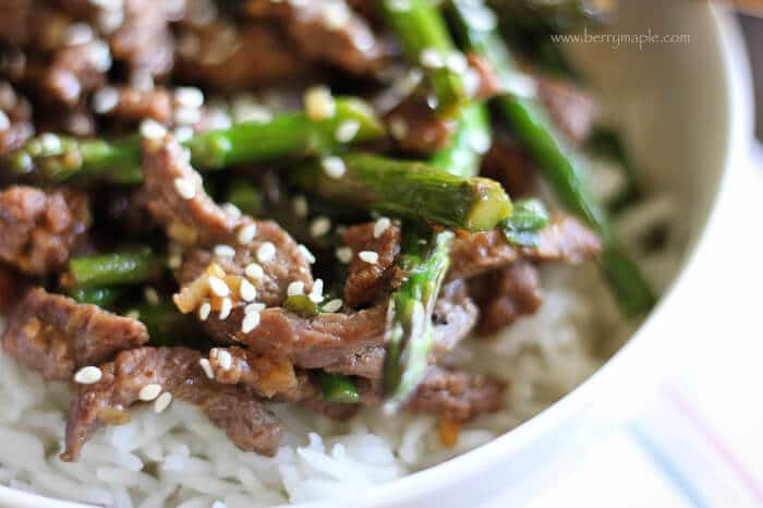 beef stir-fry with asparagus