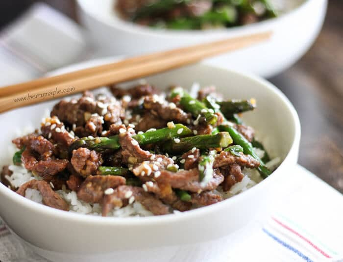 beef stir fry with asparagus recipe