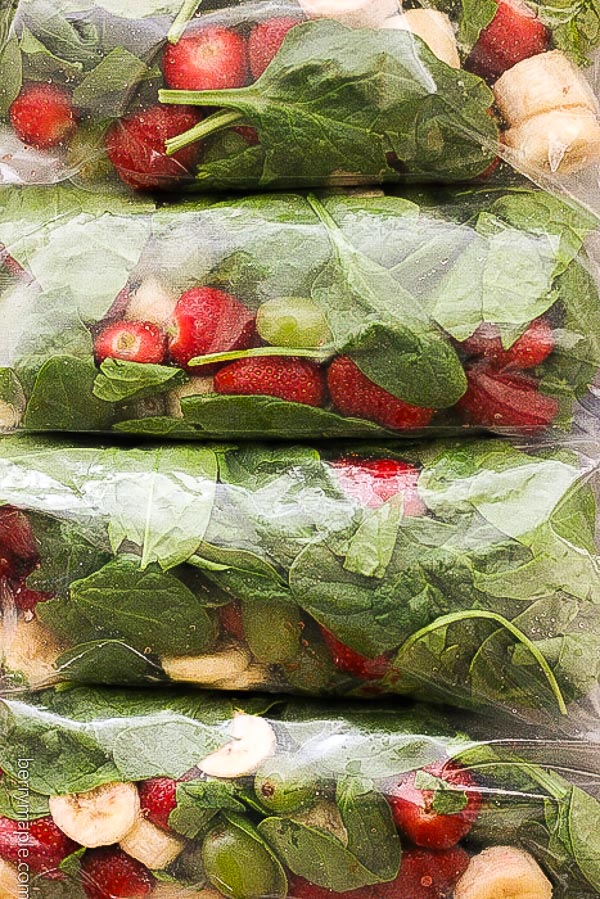 Freezer Strawberry Greens Smoothie Packs Berry Amp Maple