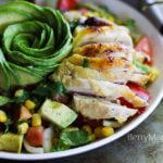 avocado corn salad with chicken