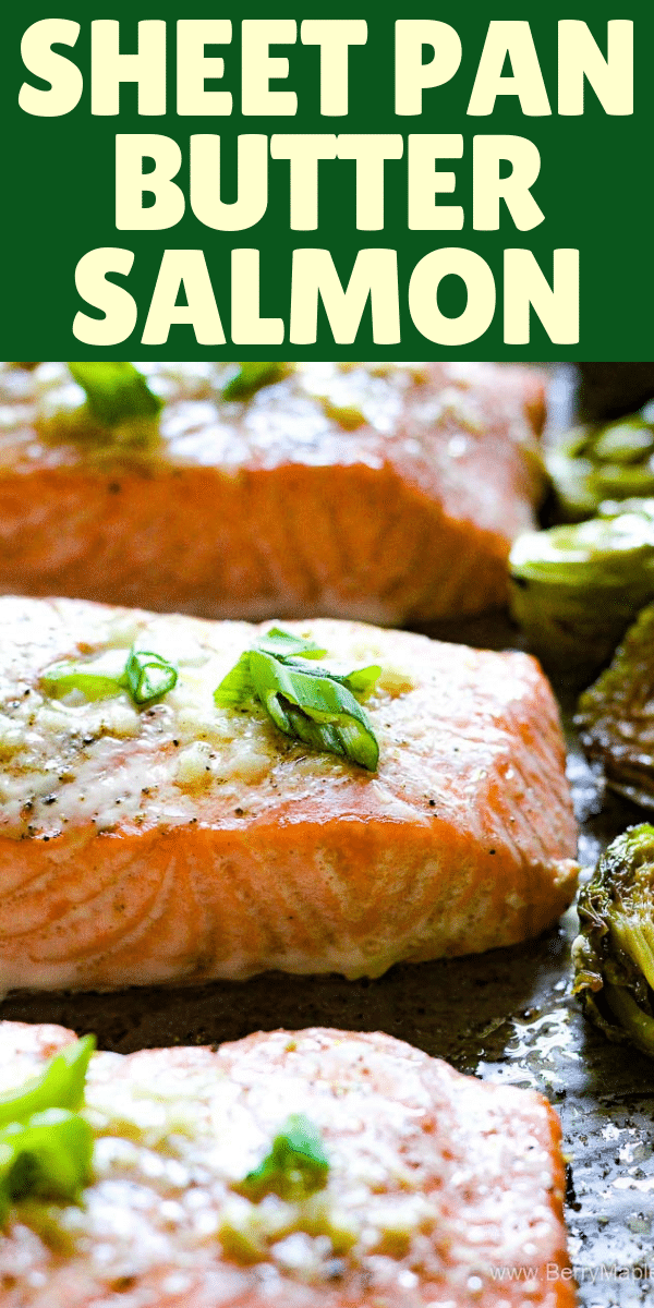 salmon buttery sheet pan
