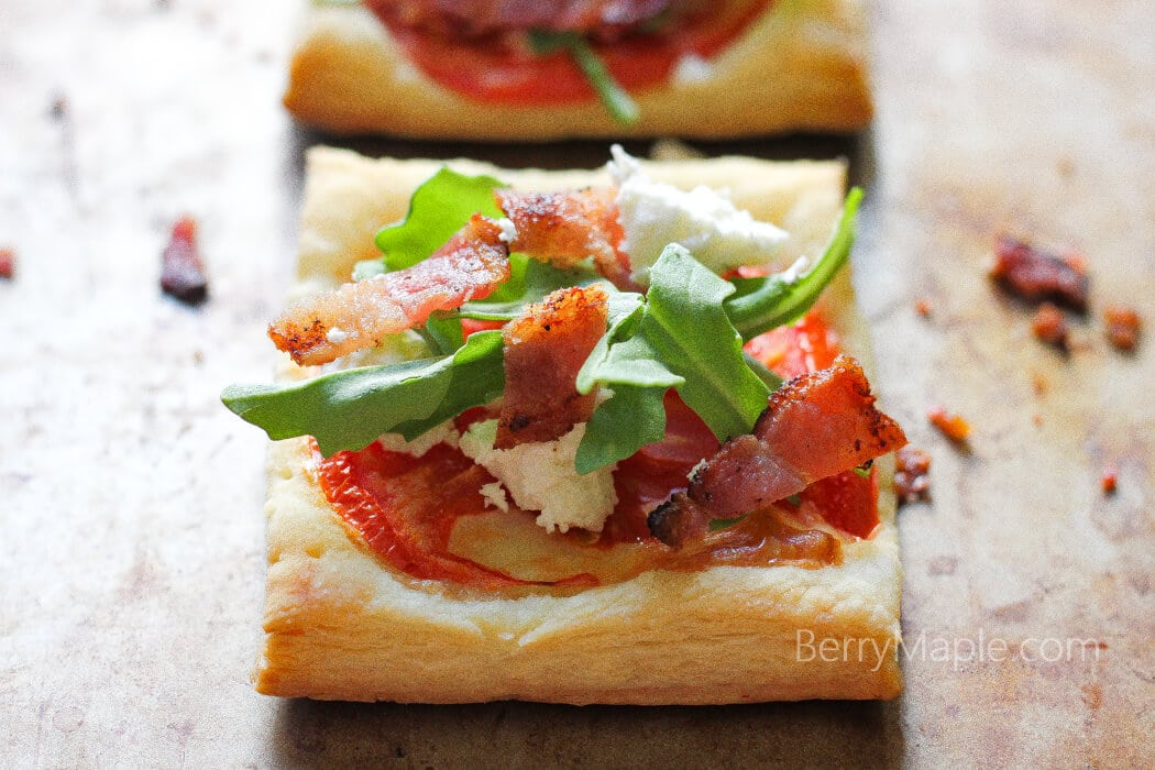BLT tarts with goat cheese