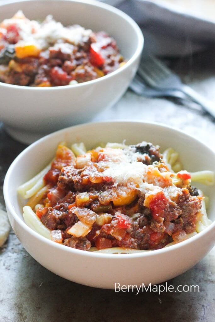 Meaty vegetable pasta recipe (Easy and ready in 30 minutes!)