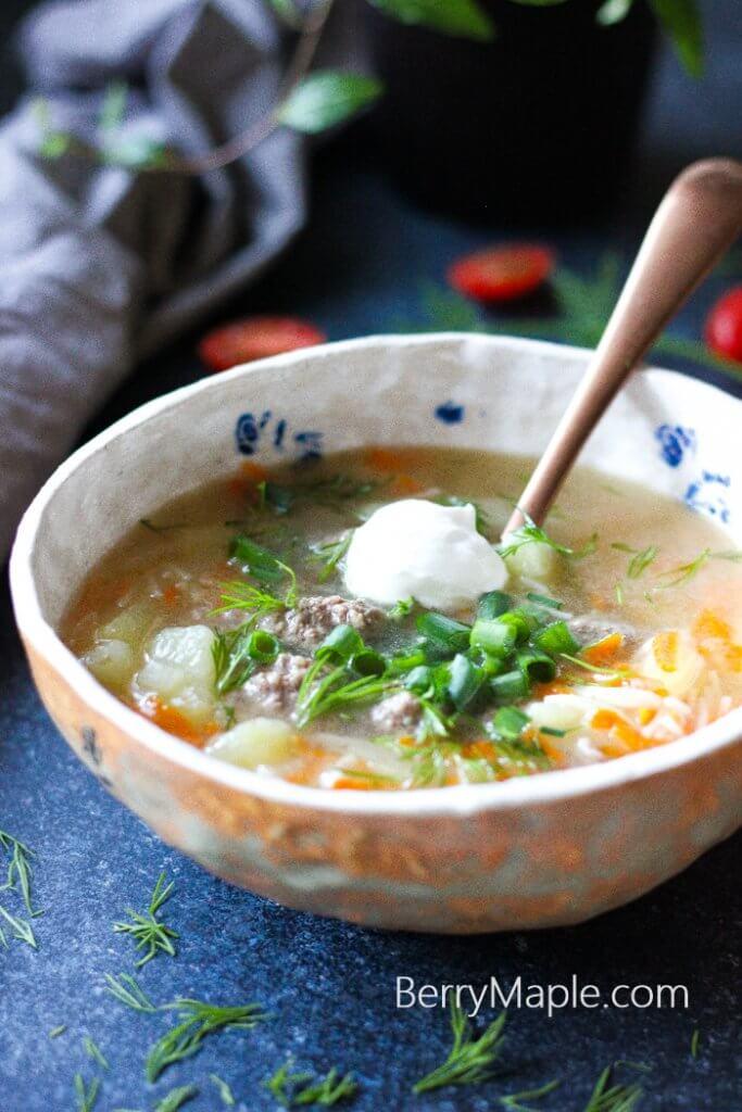 mini meatball kids soup recipe