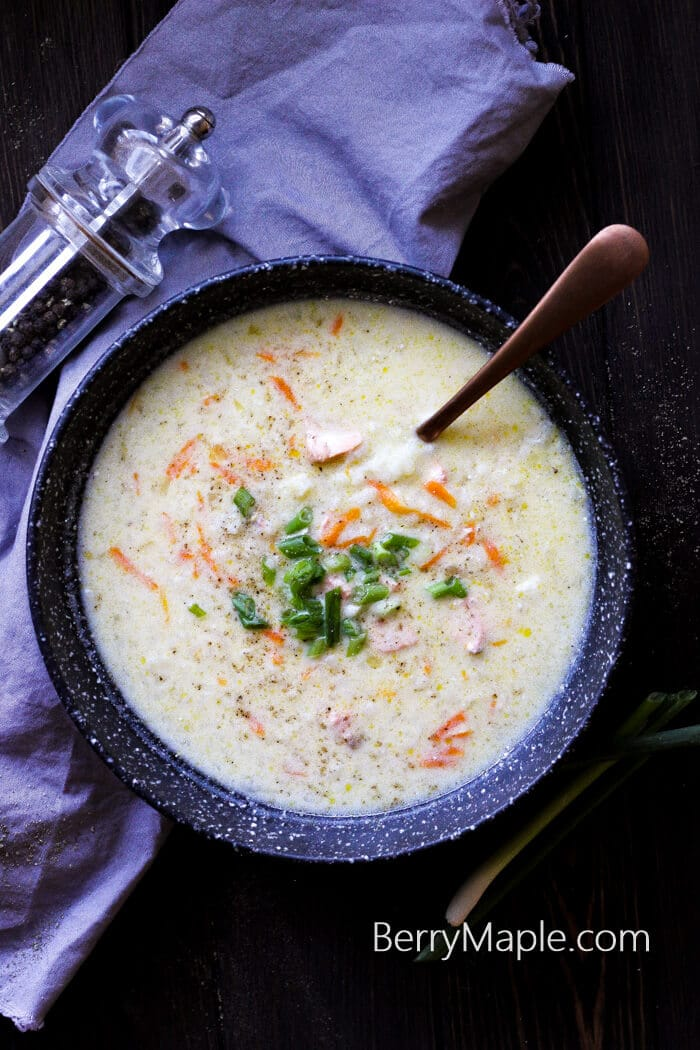 cream cheese salmon soup recipe