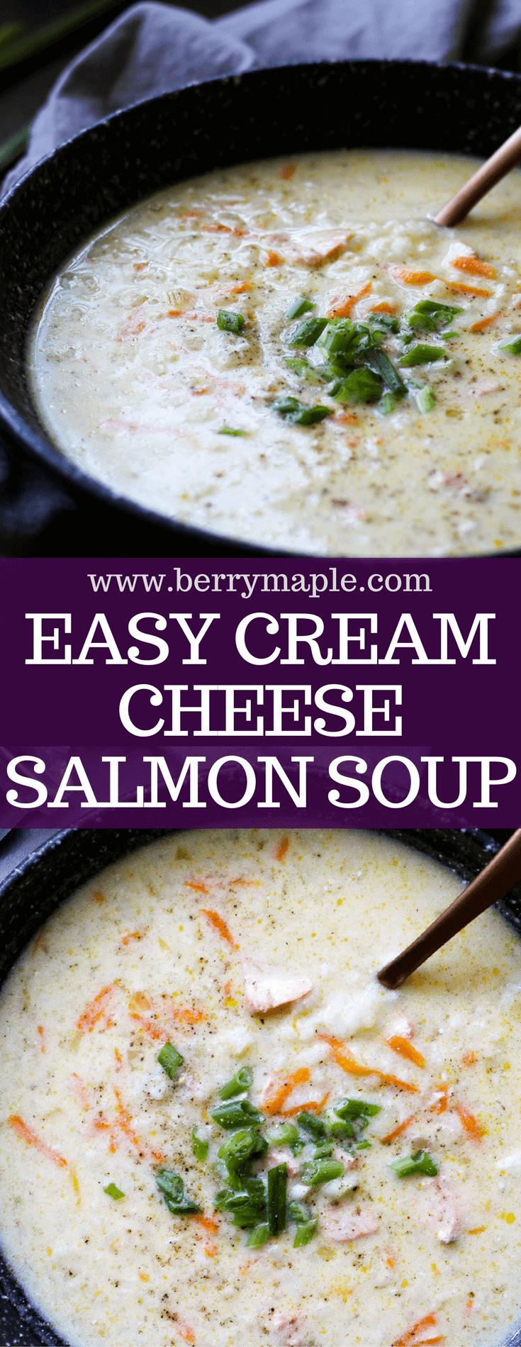cream cheese salmon soup recipe #salmon #creamcheese #soup