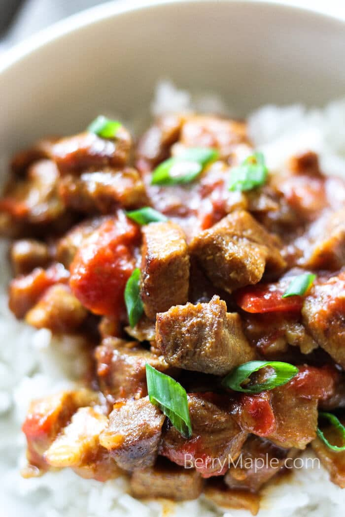 coconut milk pork skillet recipe