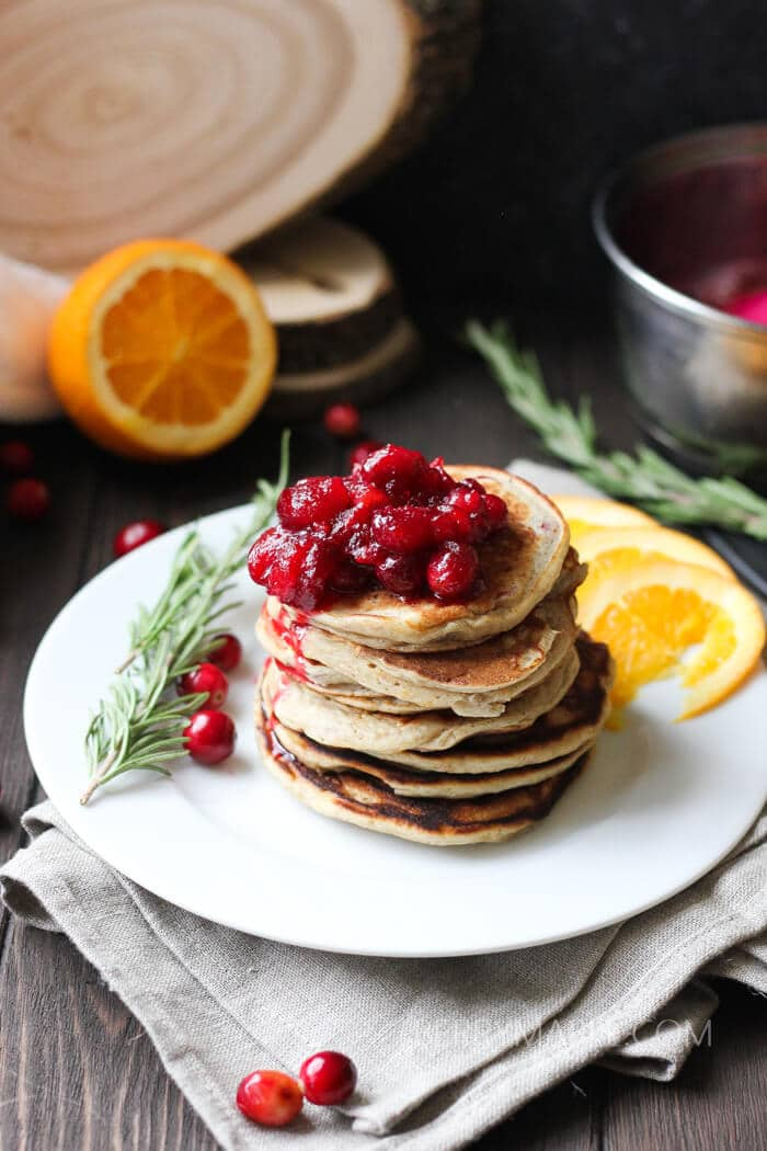 orange ricotta cranberry pancakes recipe
