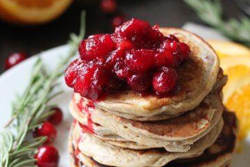 orange ricotta cranberry pancakes recipe
