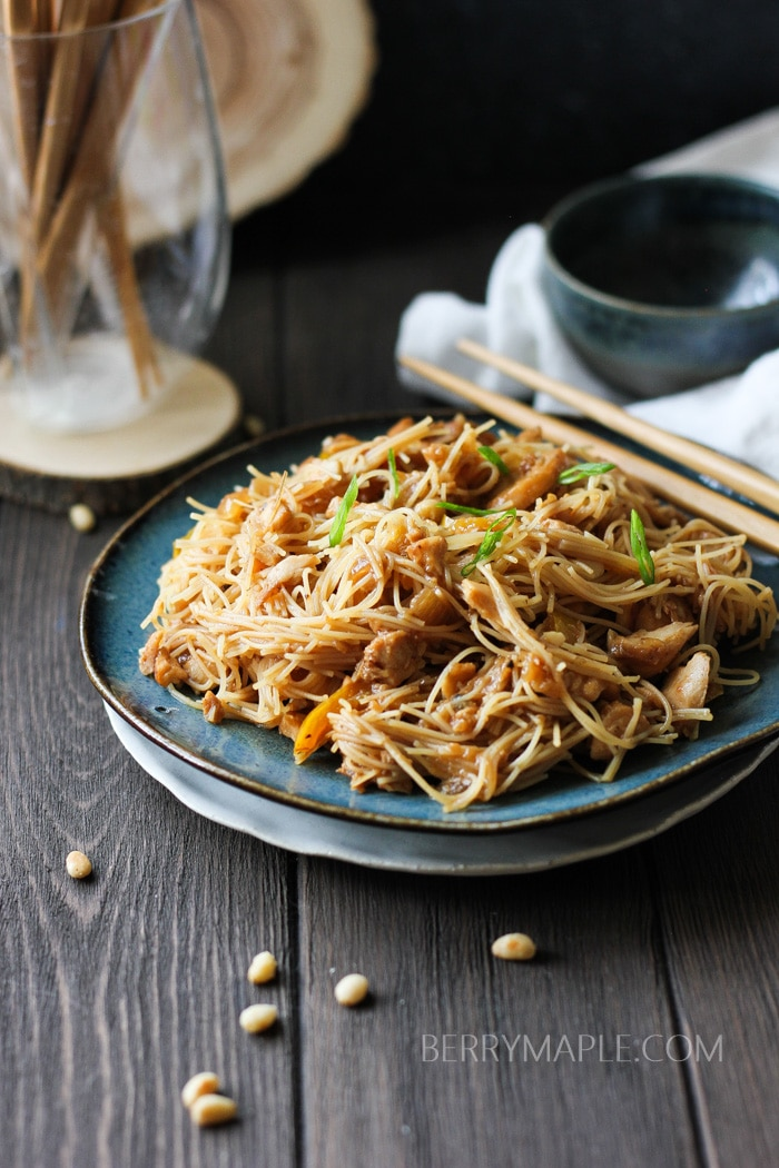 Tilapia rice noodles stir-fry recipe