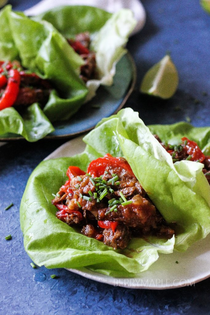 Instant Pot Beef Lettuce Wraps Whole30 Paleo Keto Low
