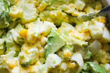 Avocado potato corn salad