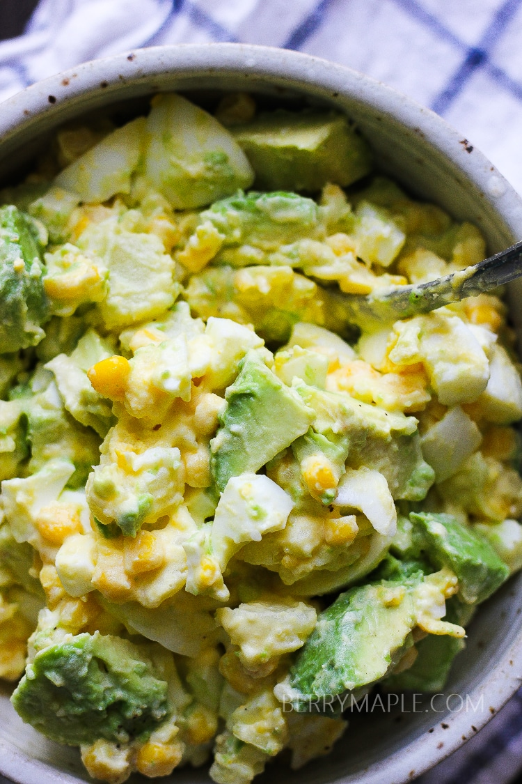 Avocado potato corn salad