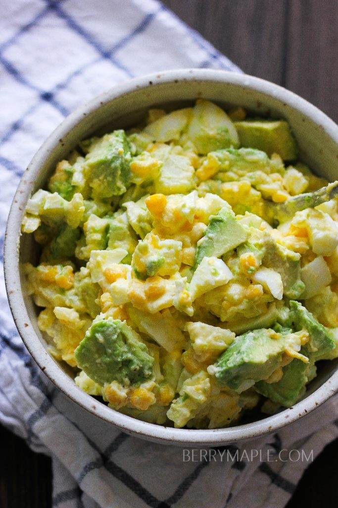 Avocado potato salad bowl