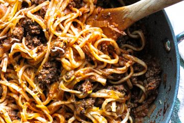 cheese beef udon