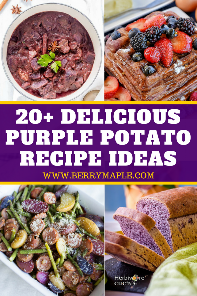 20 purple potatoes recipes ideas berrymaple 4 photos of dishes made with purple potatoes forumfinder Choice Image
