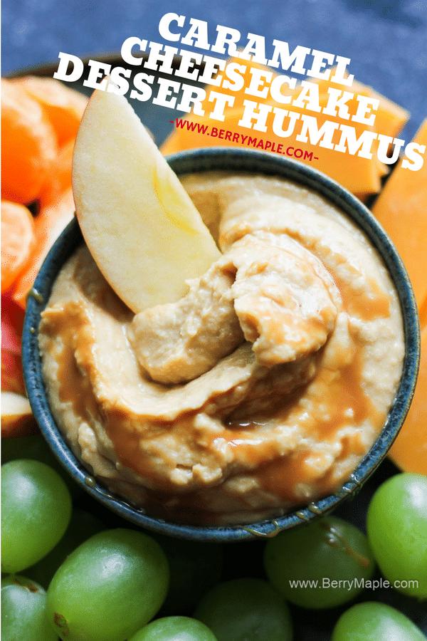 Caramel cheesecake hummus