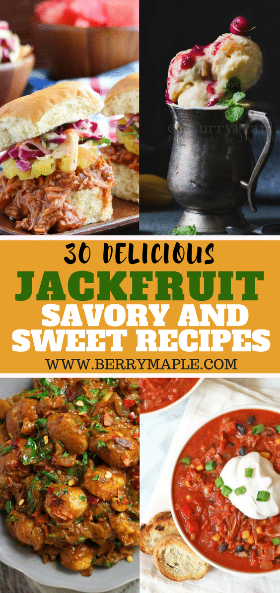 Jackfruit savory and sweet recipes