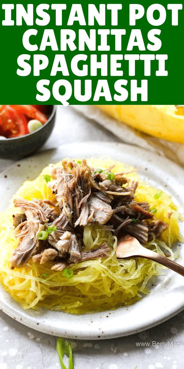 Instant pot spaghetti squash pulled pork