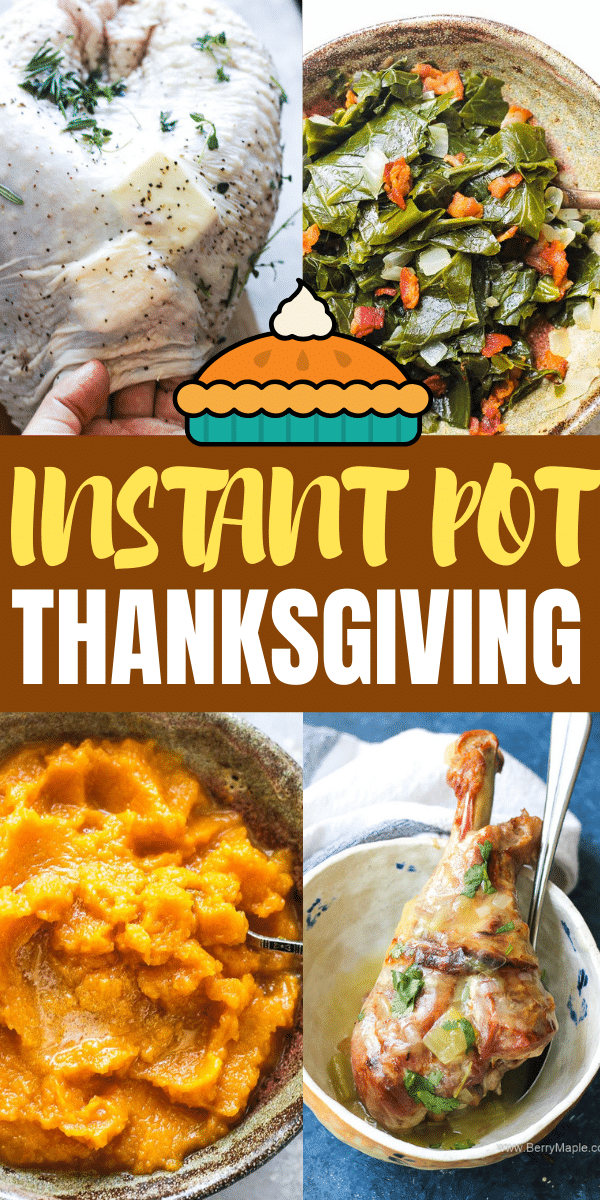 instant pot thanksgiving collage