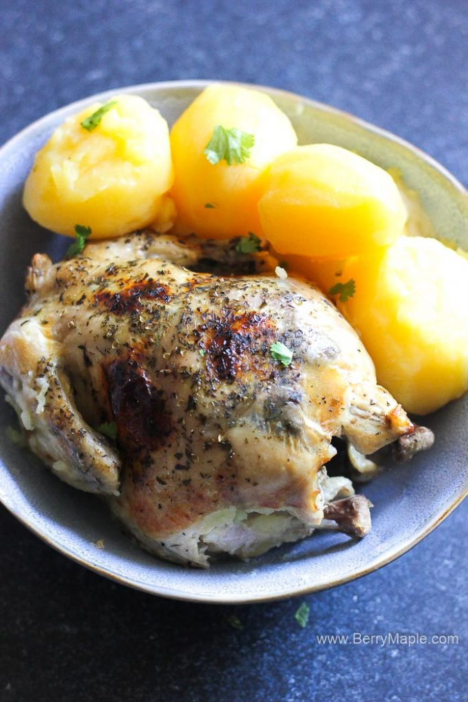 cornish hen with potatoes