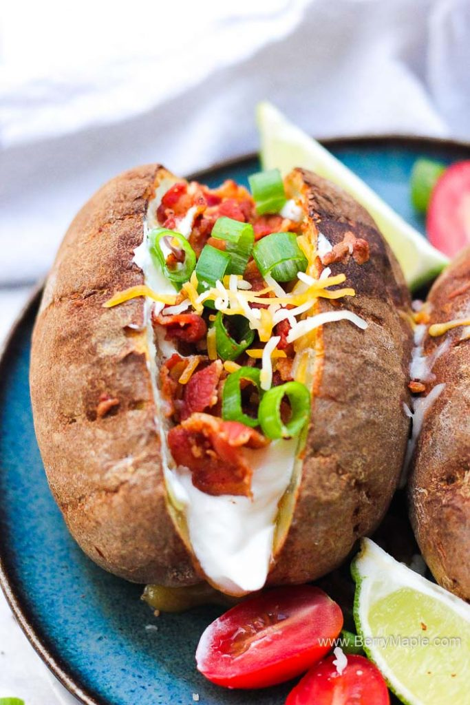 big baked loaded potato