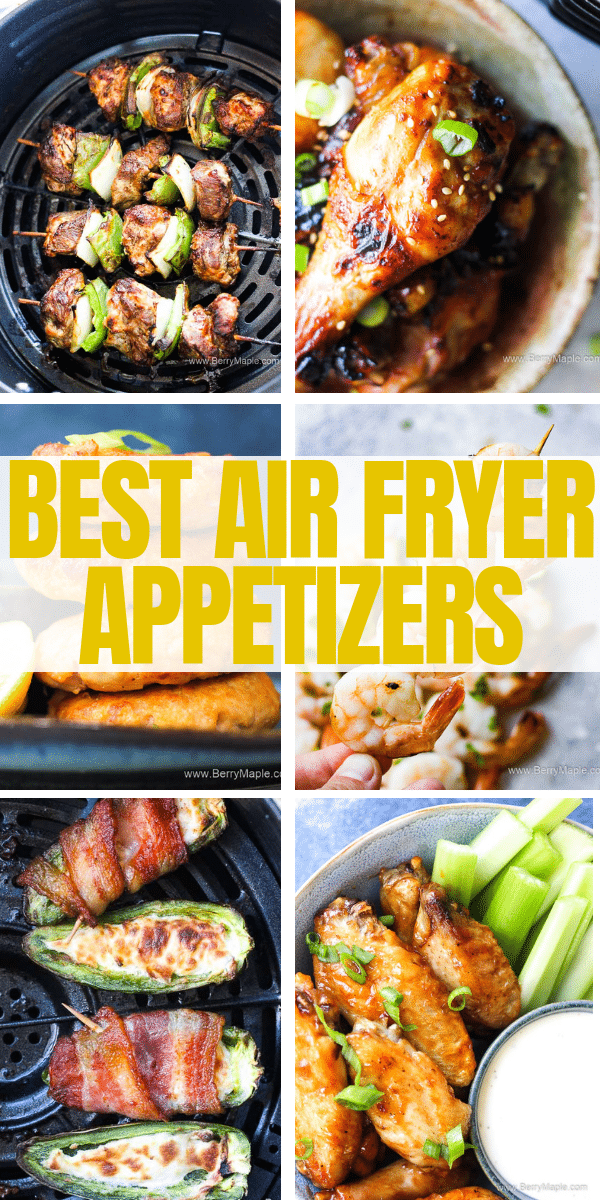 a roudp photo of appetizers made in air fryer