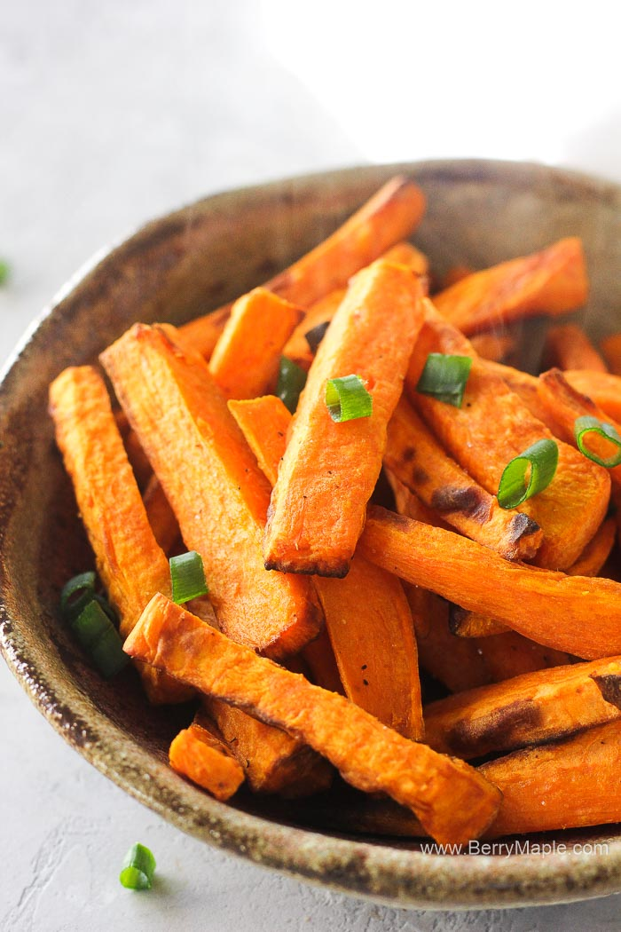 a bowl with sweet potato fries