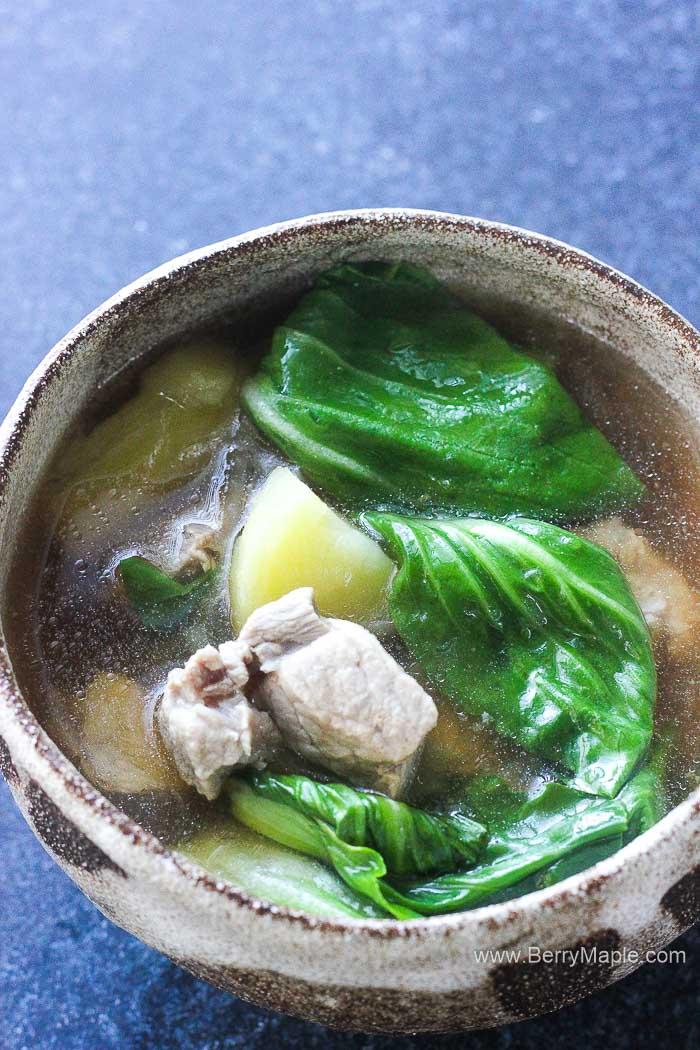 Nilagang baboy (Filipino pork soup)