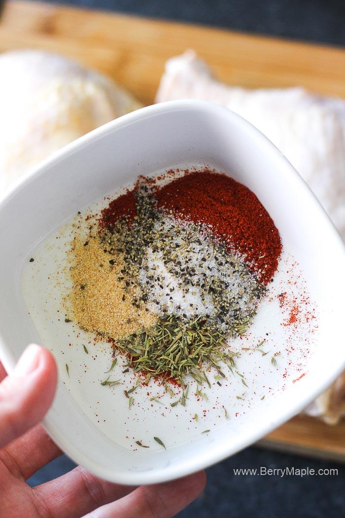rub spices