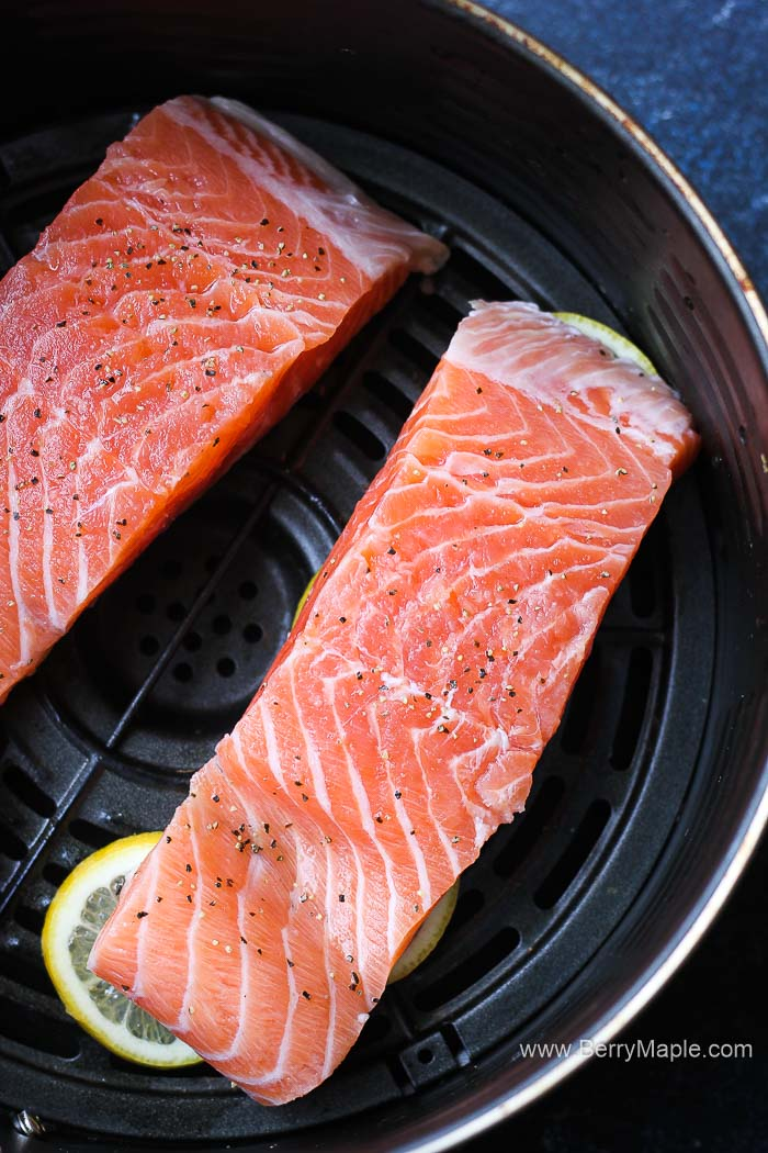 raw salmon in air fryer