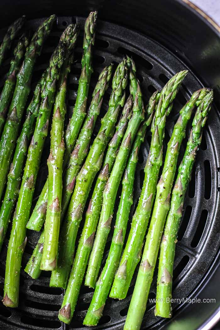 raw asparagus in air fryer