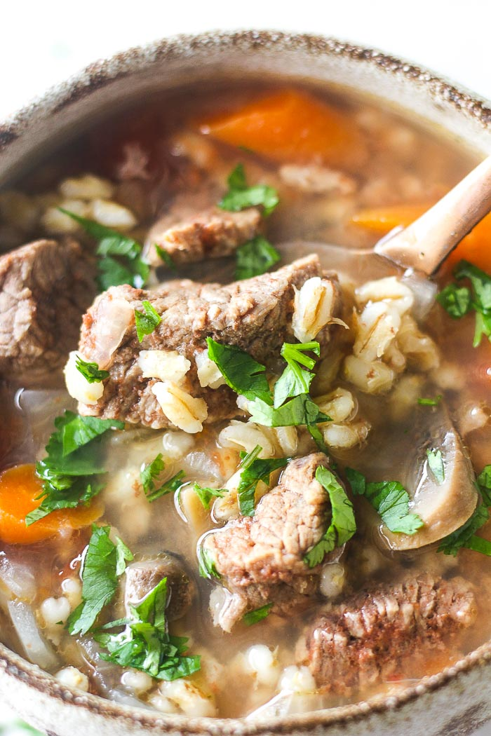beef barley instant pot soup