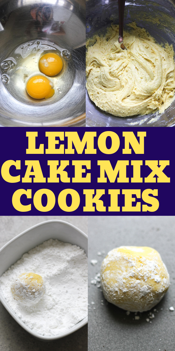 lemon cake mix cookies step by step