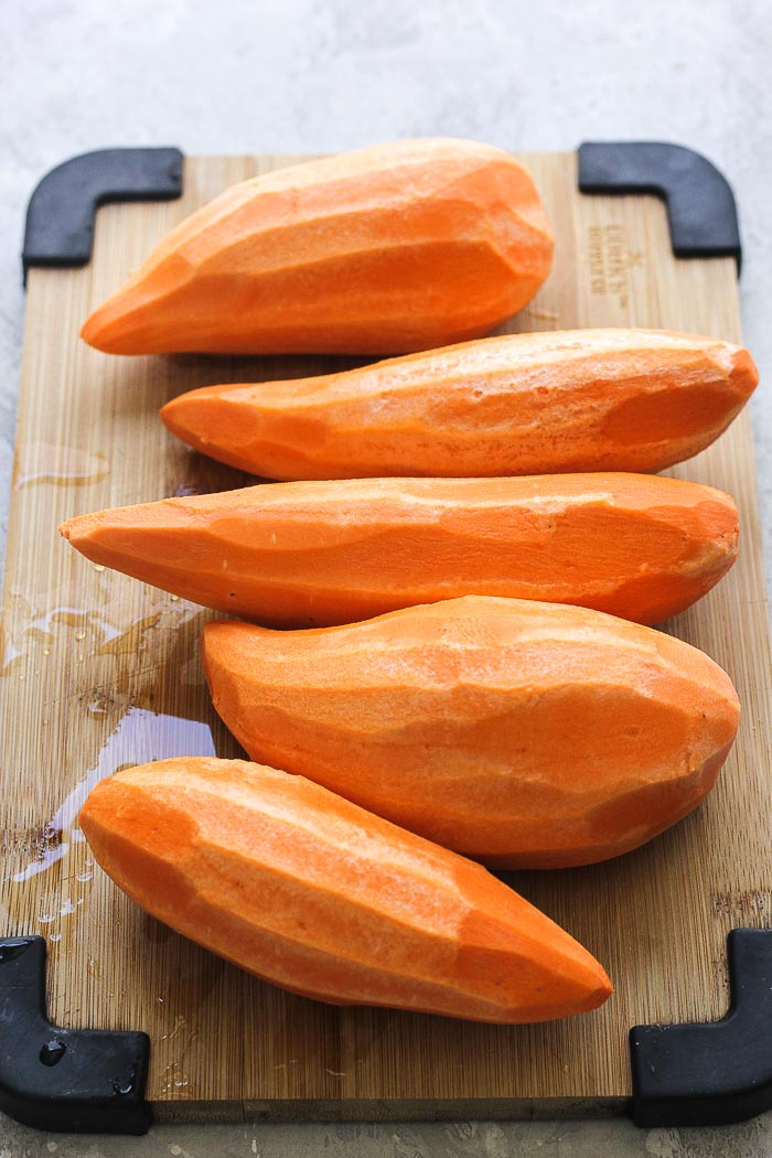 peeled sweet potatoes