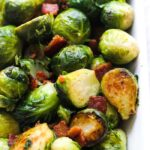 sauteed broseels sprouts with bacon crispy