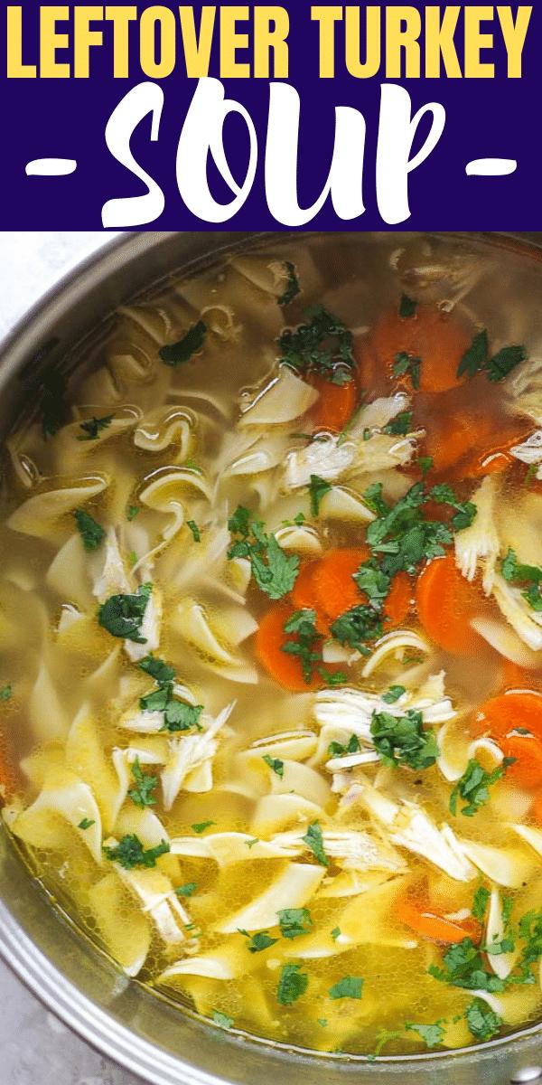 pot with turkey soup