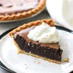 a piece of chocolate pie