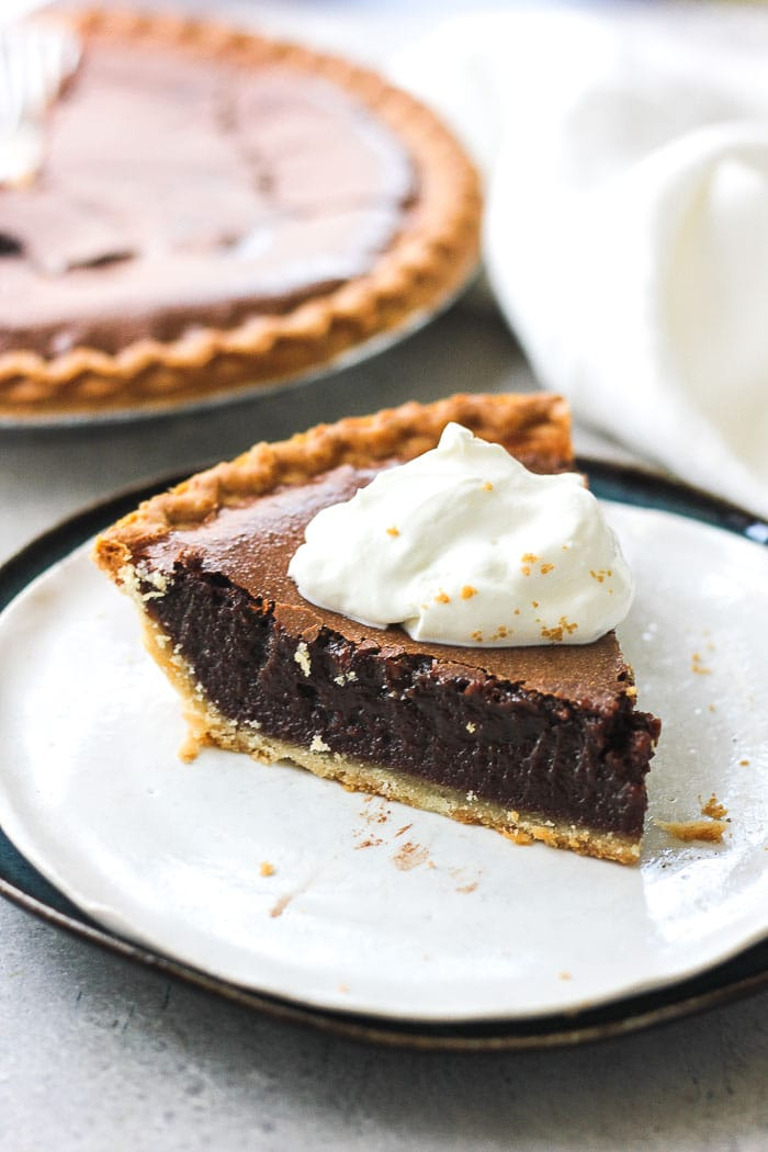 a piece of chocolate pie
