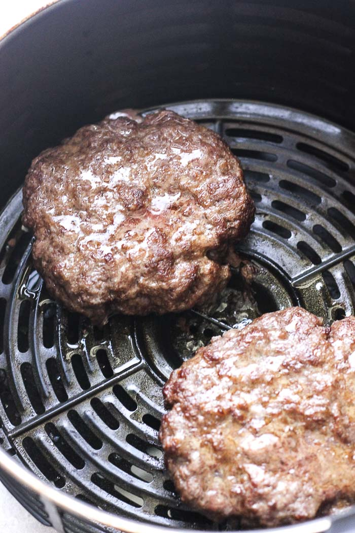 beef patties in air fryer
