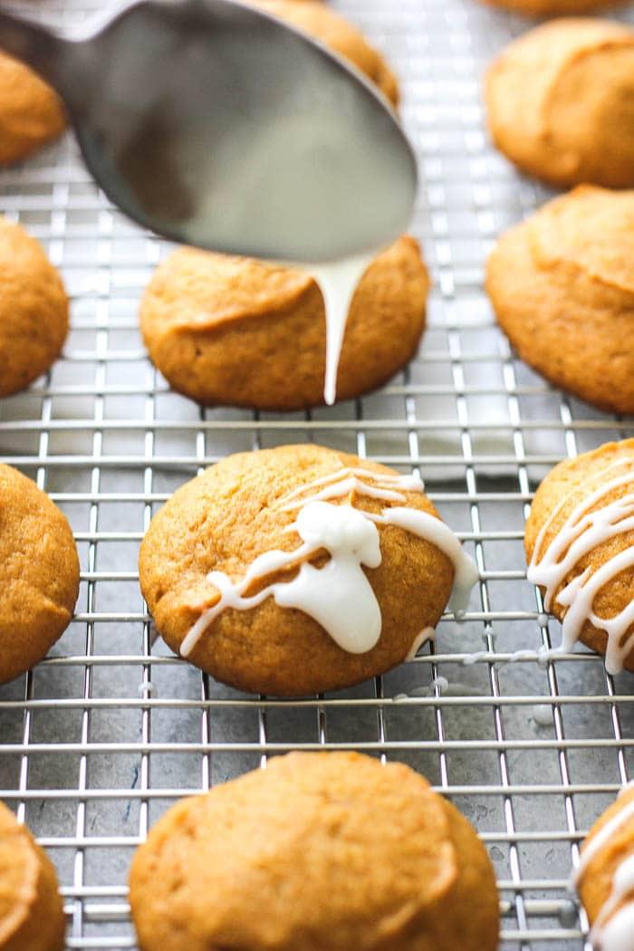 pumpkin glazed cookies
