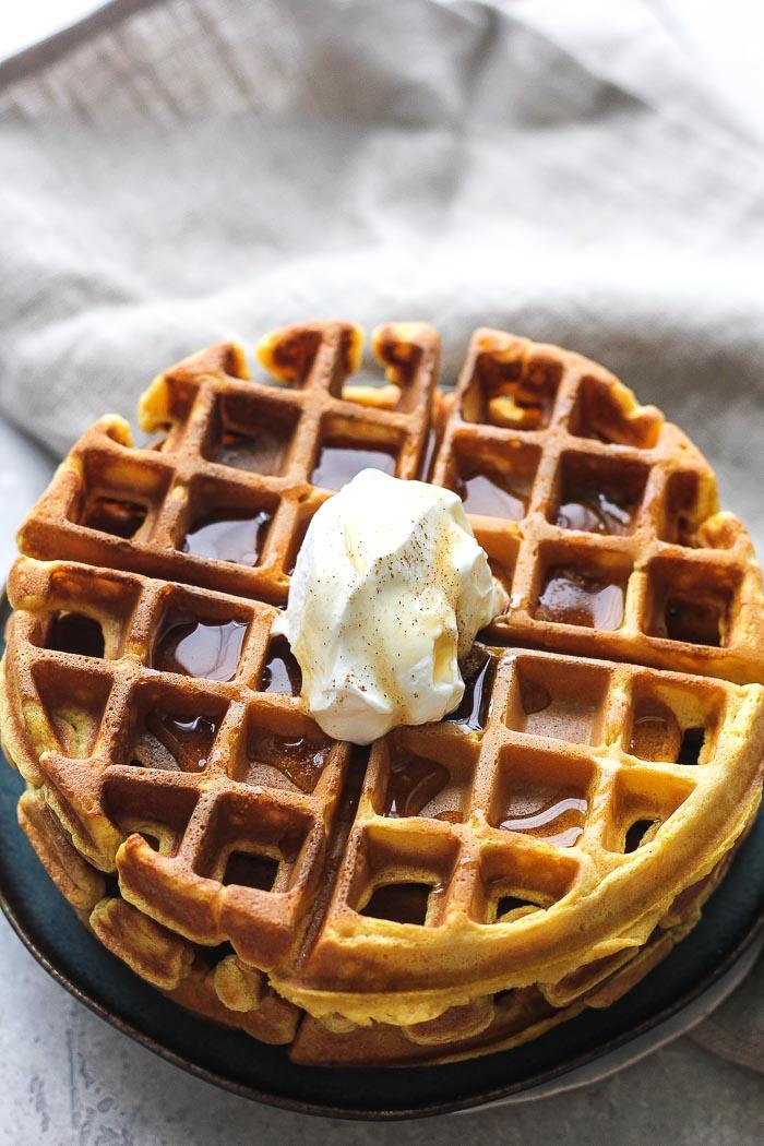 waffle iron pumpkin waffles