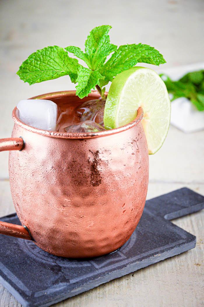 kentucky mule in copper mug