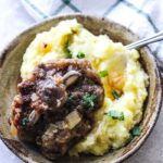 instant opt oxtails with mashed potatoes