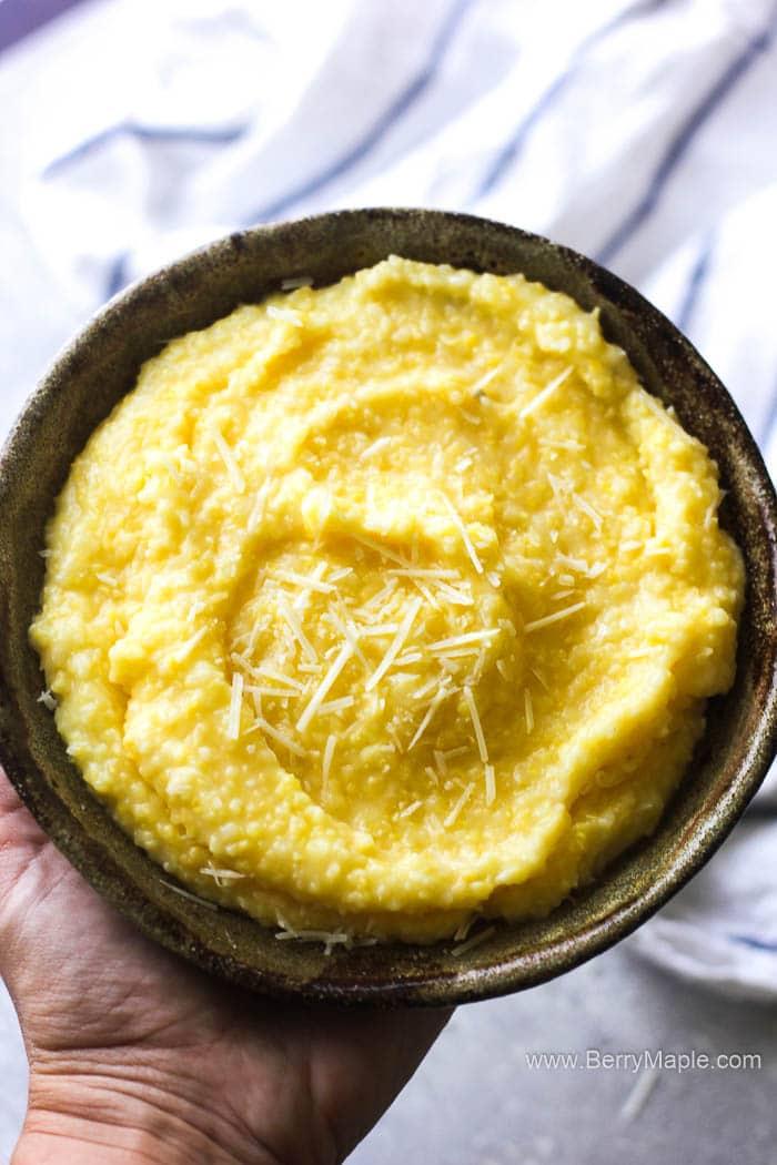 a bowl of polenta