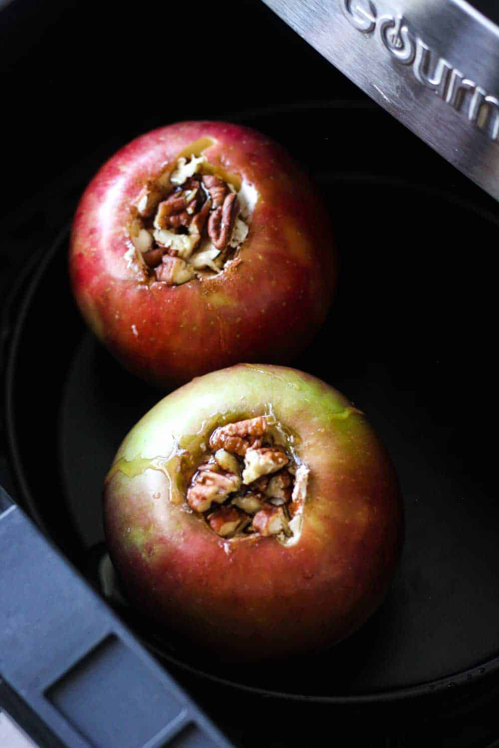 raw apples in air fryer