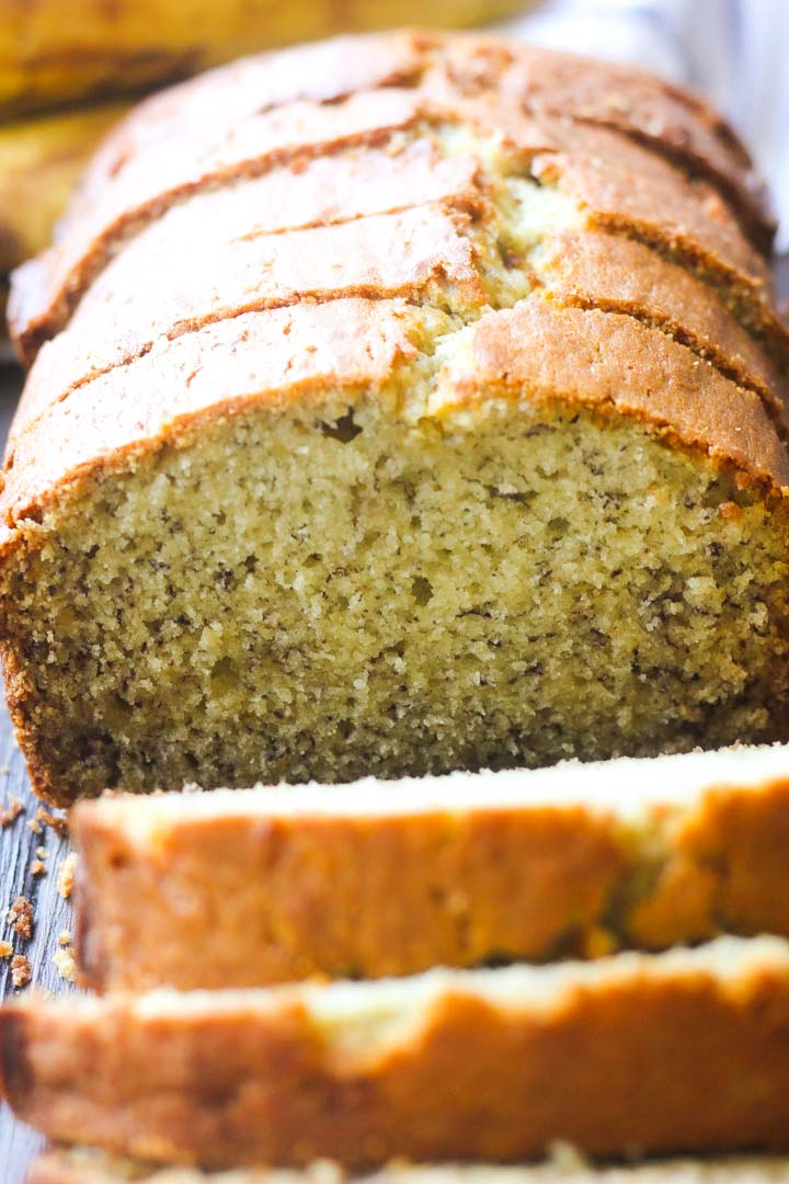 banana bread close shot