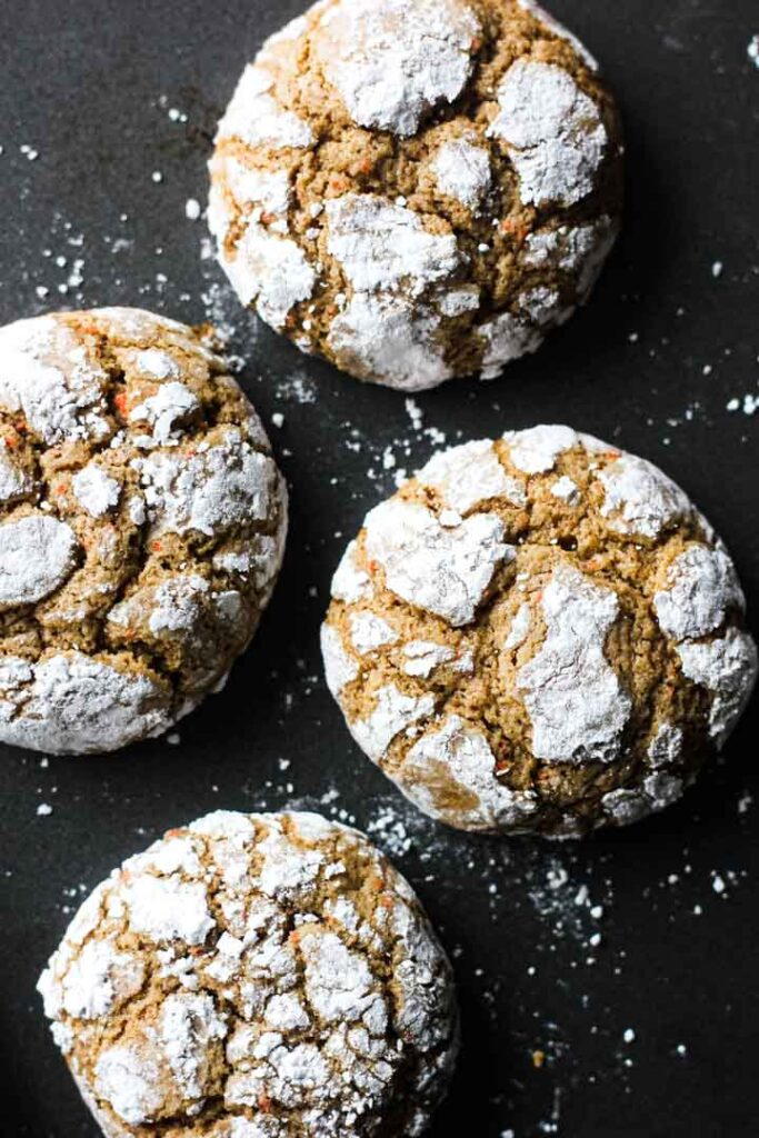 carrot crinckle cookies
